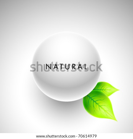 Abstract Natural Sphere - stock vector