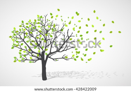 Abstract nature background. Vector tree.