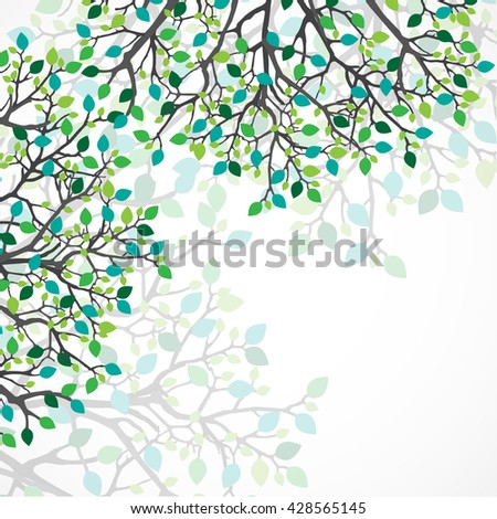 Abstract nature background. Vector tree. - stock vector