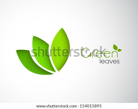 Abstract nature background with green leafs.  - stock vector