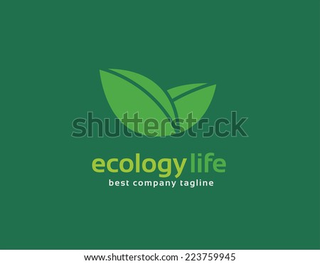 Abstract nature leafs care vector logo icon concept. Logotype template for branding and corporate design - stock vector