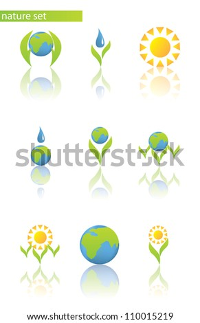 Abstract nature symbol such a logo - stock vector