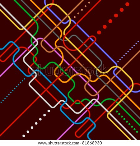 abstract navigation scheme of various colorful lines