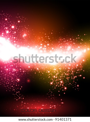 Abstract neon background or card for your massage, easy color editable - stock vector
