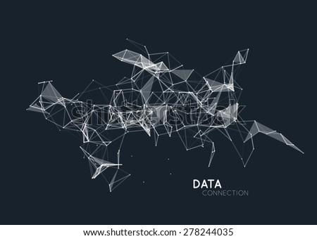 Abstract network connection background - stock vector
