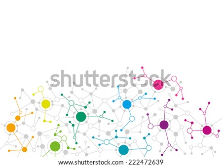 Abstract network design - stock vector