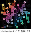 abstract network illustration (social media and technology theme) - stock photo