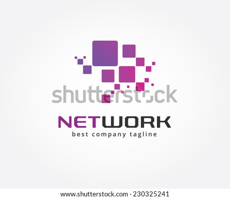 Abstract network vector logo icon concept. Logotype template for branding and design - stock vector