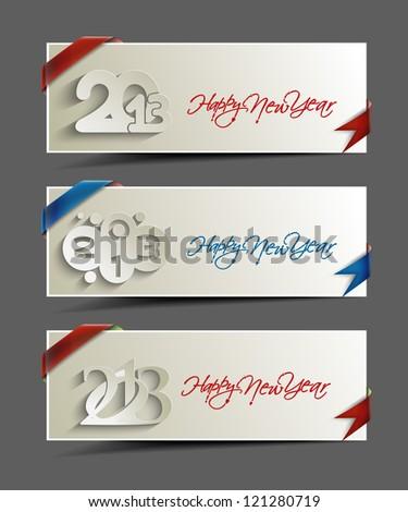 abstract new year banner, header, eps10 vector illustration - stock vector