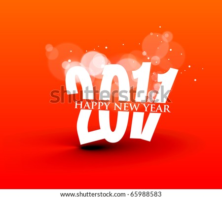 abstract new year 2011 colorful design.  Vector illustration - stock vector