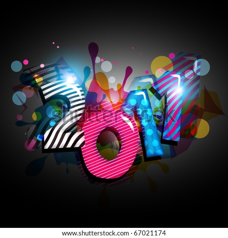 abstract new year illustration vector - stock vector