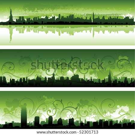 Abstract New York cityscape - stock vector