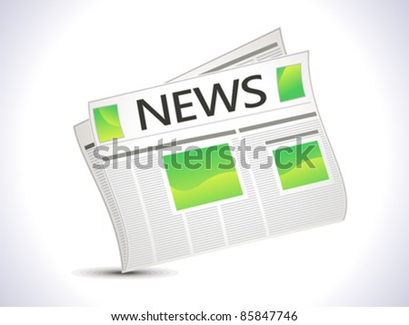abstract news paper icon vector illustration - stock vector