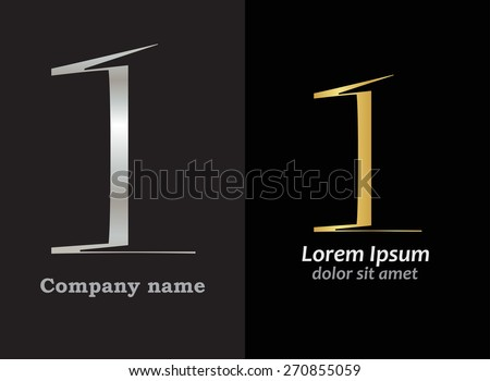Abstract number logo design.Number one logo.Logo 0 vector template. - stock vector