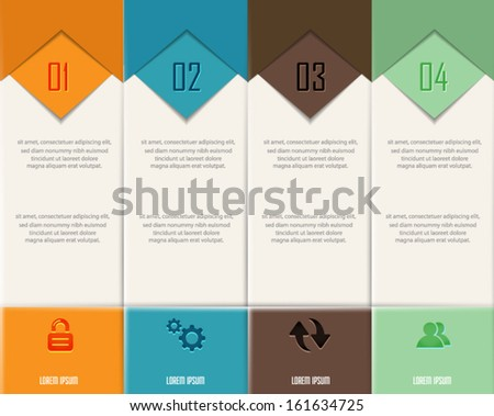 Abstract numbered banners.Can be used for Infographic. Vector eps10.  - stock vector
