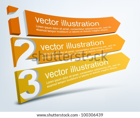 Abstract numbered lines - stock vector