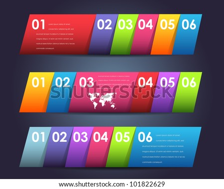 Abstract Numbered Page Banner Vector Background Design - stock vector