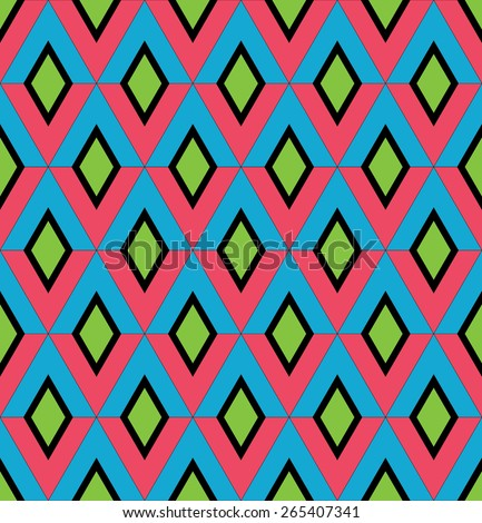 Abstract of seamless pattern of geometric shapes green color in vector