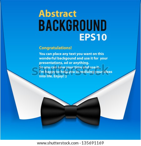 Abstract official paper elements blue background with place for text - stock vector
