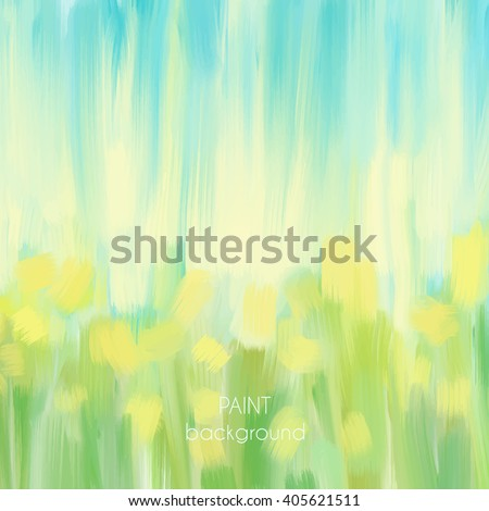 Abstract oil painting texture. Hand drawn paint brushes background. Pastel color palette. - stock vector