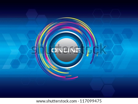 abstract online background vector illustration - stock vector