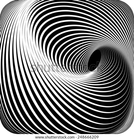 Abstract op art design. Vector art. - stock vector