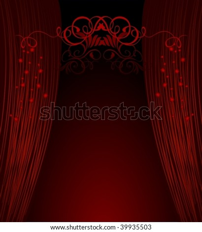 abstract opera curtains - stock vector
