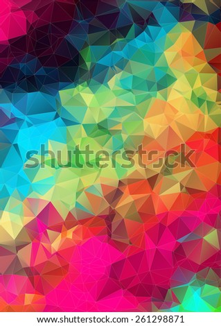 Abstract optic effect colorful triangle pattern background - stock vector