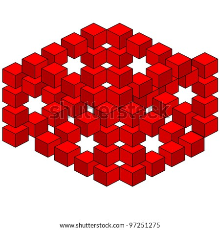 abstract optical illusion. Rasterized version also available in portfolio. - stock vector