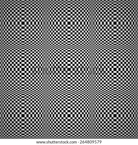 Abstract optical illusion seamless vector background. - stock vector