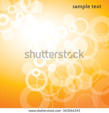 abstract orange background - stock vector