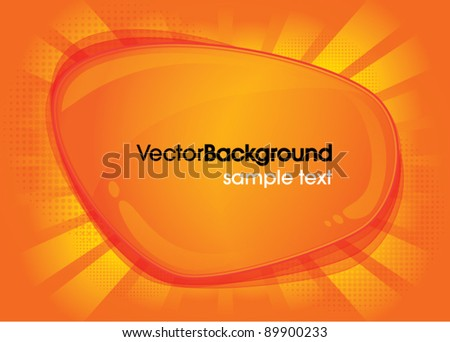 Abstract orange cloud web background vector illustration - stock vector