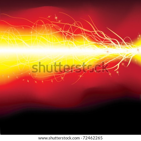 Abstract orange flame