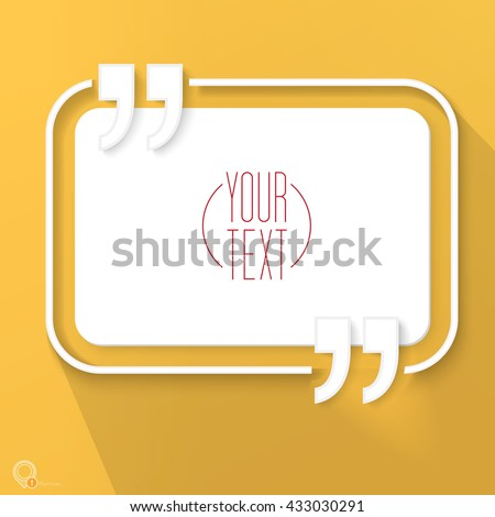 Abstract Orange Geometrical Quotation Marks Design Bubble With Your Text Eps 10 Stock Vector Illustration  - stock vector