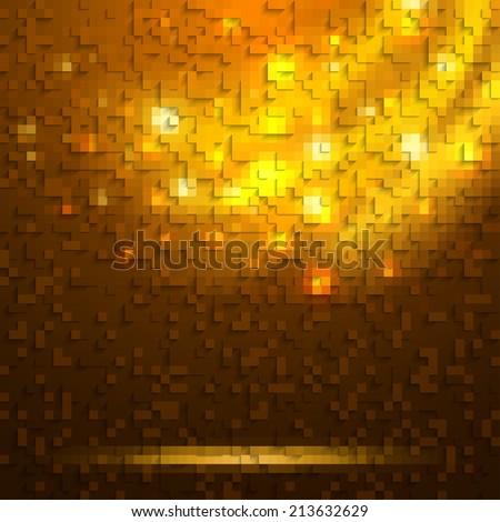 Abstract orange glowing background vector - stock vector
