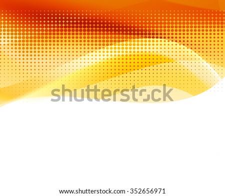 abstract orange halftone background. vector illustration - stock vector