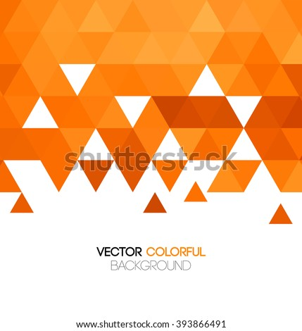 Abstract orange mosaic background. Vector illustration. - stock vector