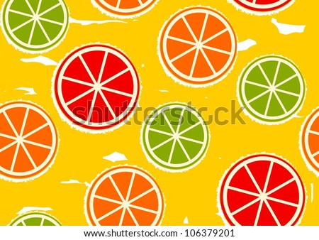 abstract orange seamless background