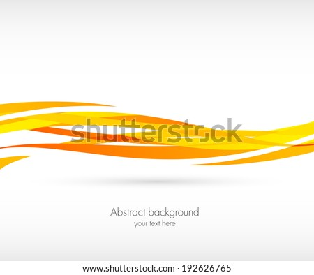 Abstract orange wave background - stock vector