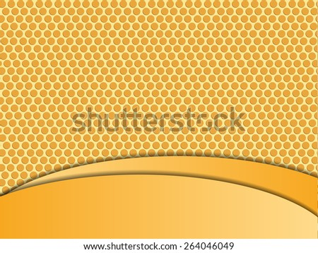 Abstract orange waves background. yellow grid. wallpaper. texture. vector - stock vector