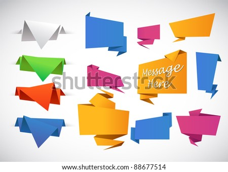 Abstract Origami - stock vector