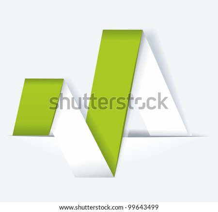 Abstract origami banner - stock vector