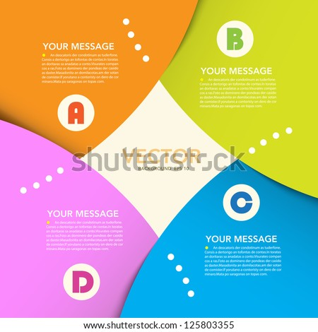 Abstract origami banner background.eps10 - stock vector