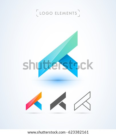Abstract Origami Letter A X Y Stock Vector 623382161