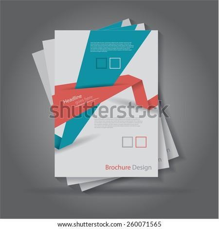 Abstract origami paper cut brochure / flyer design, eps10 Vector.
