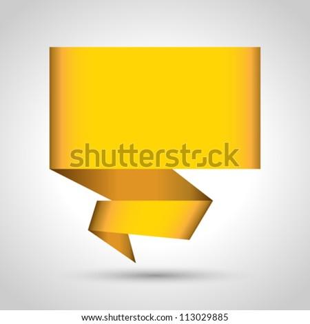 Abstract origami speech bubble vector background. Eps 10 - stock vector