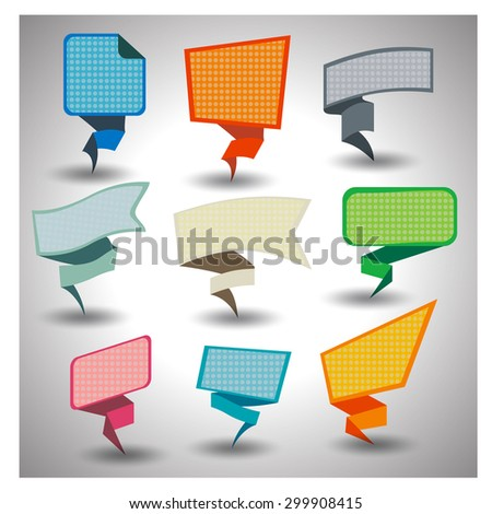 Abstract origami speech  vector background. - stock vector