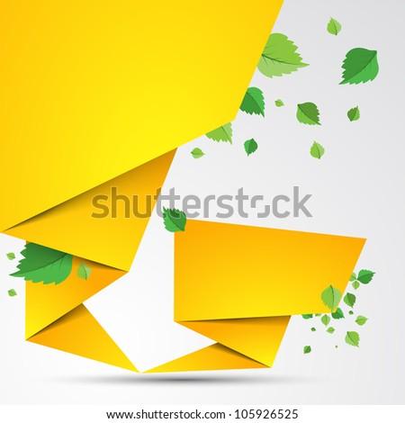 Abstract origami speech vector background. Summer - stock vector