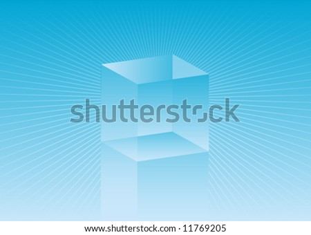 Abstract original vector background glossy cube illustration - stock vector