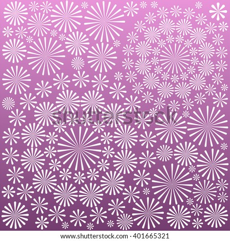 Abstract ornamental floral pattern background vector illustration